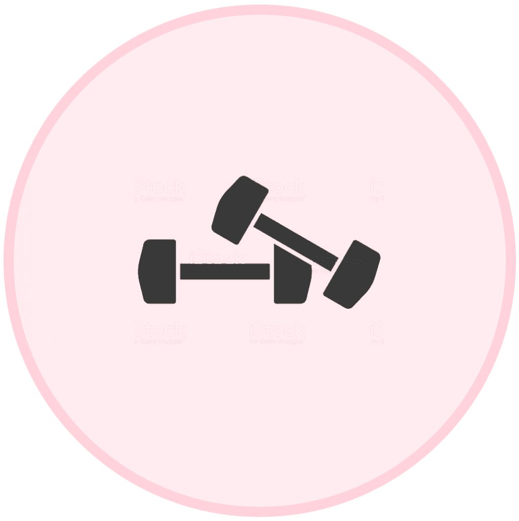 The Fitt Mum Project - hand weights icon
