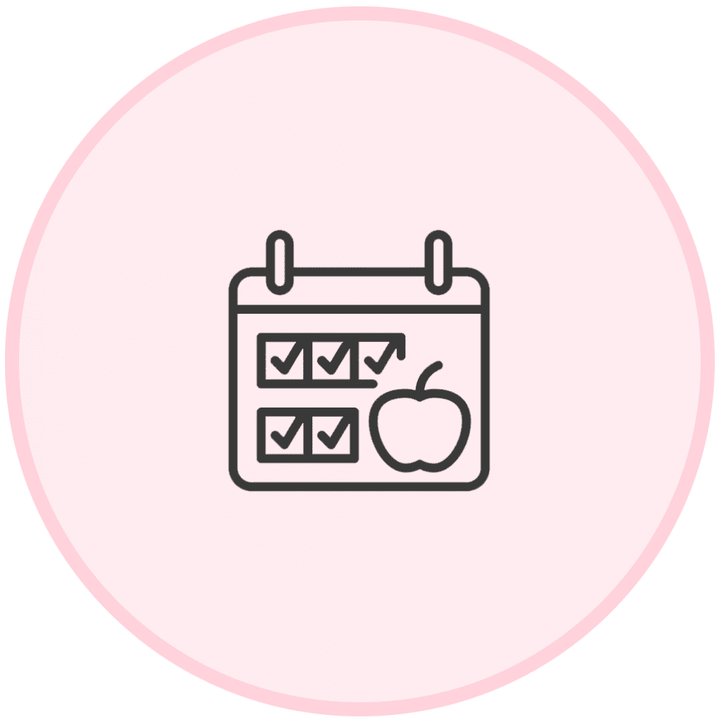 The Fitt Mum Project - meal plan icon